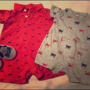 Other - 🌸2$10🌸 6 month baby boy outfits.